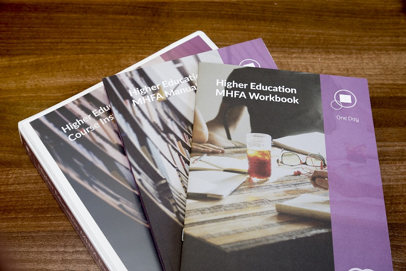 Higher Education MHFA workbook, manual and instructor kit