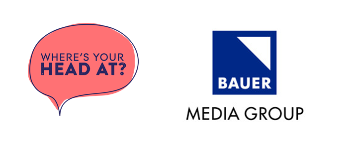 Where's Your Head At? campaign logo and Bauer Media logo