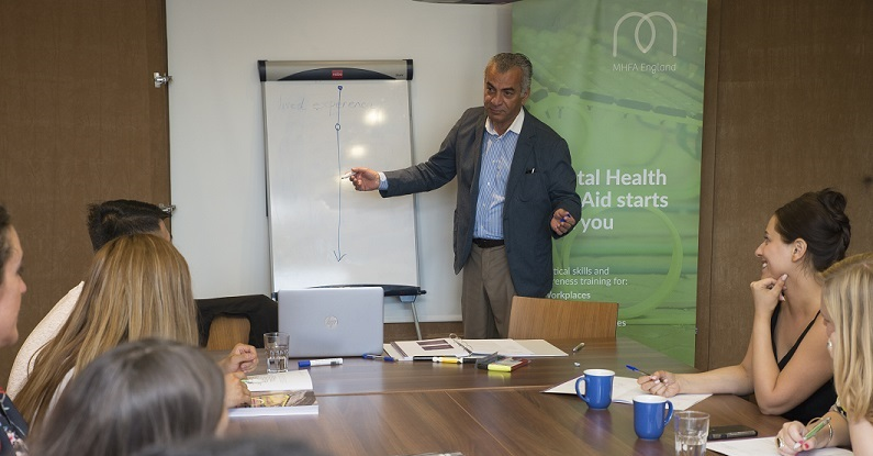 Mental Health First Aid course in the workplace